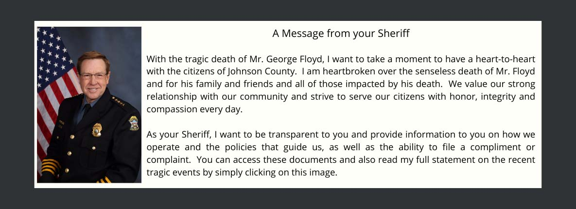 Message from Sheriff Hayden